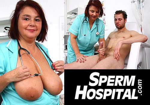 Medical handjob porn in Sperm Hospital